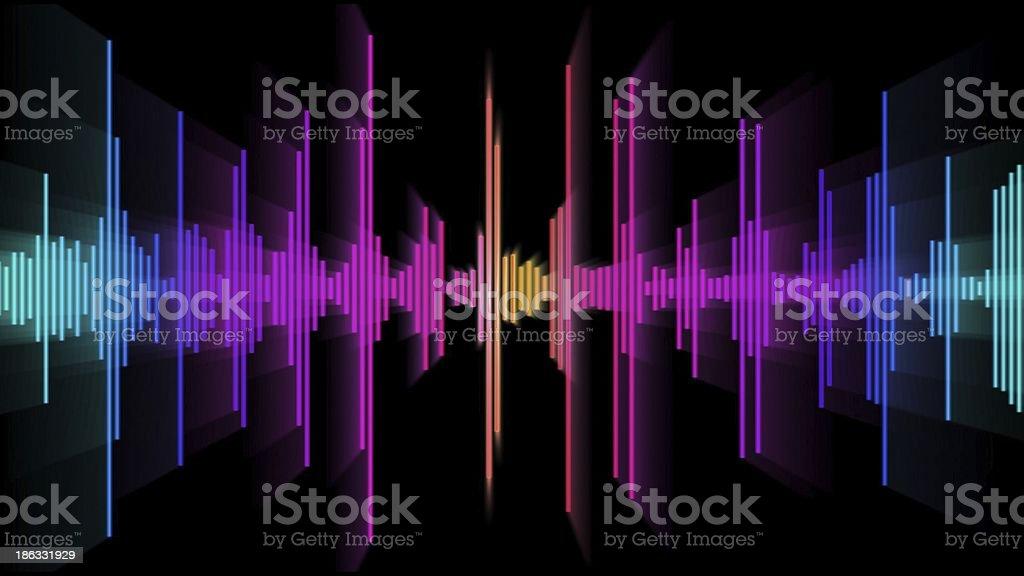 audio spectrum glow 01 royalty-free stock photo
