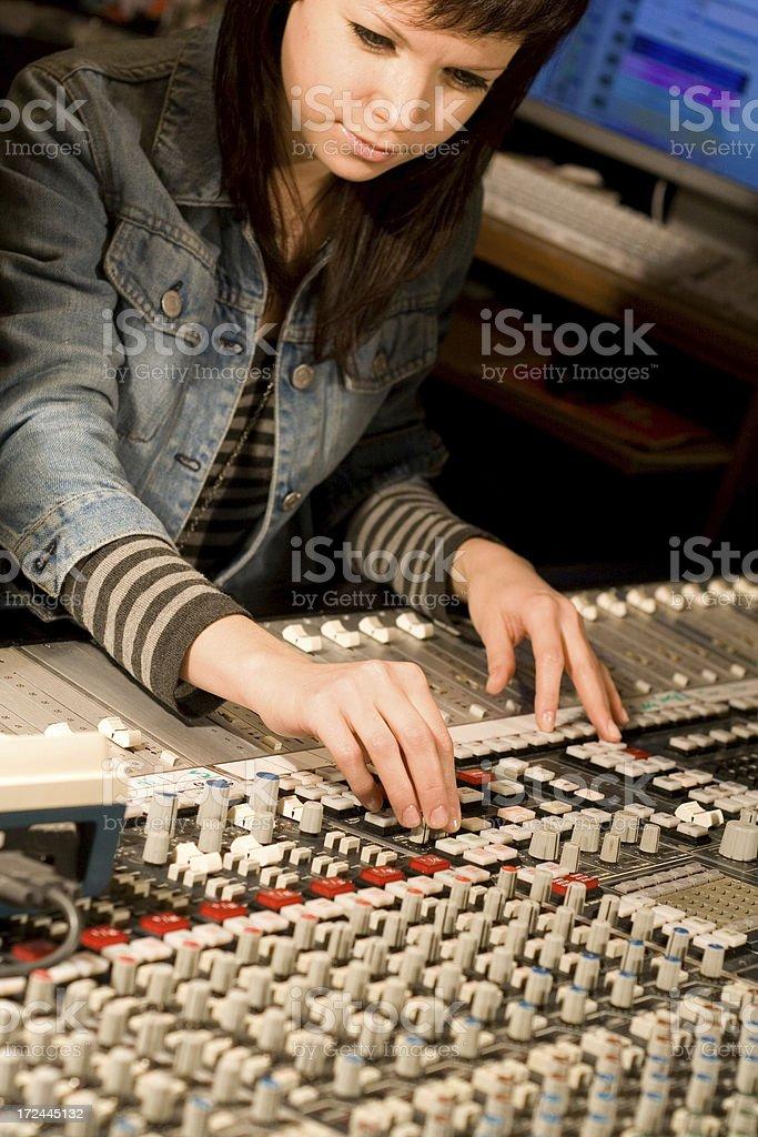 audio studio stock photo