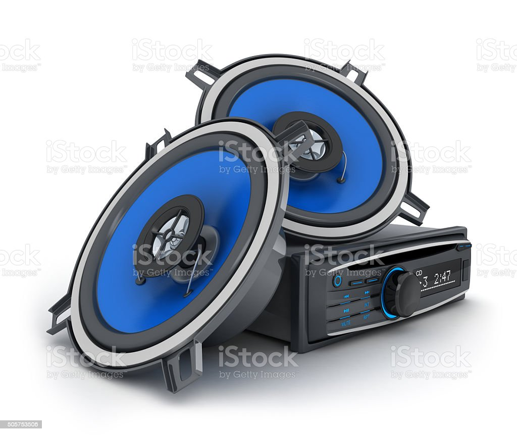 Audio system car stock photo