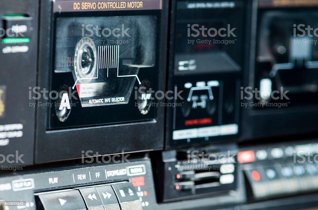 Audio Tape Deck stock photo