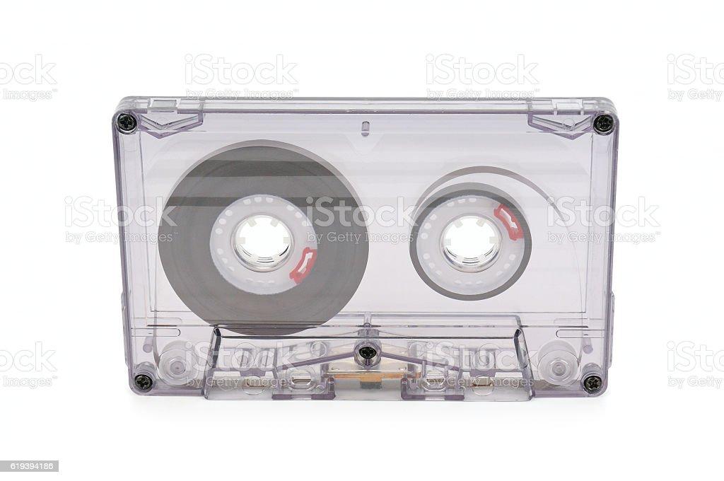 audio tape isolated on white background stock photo