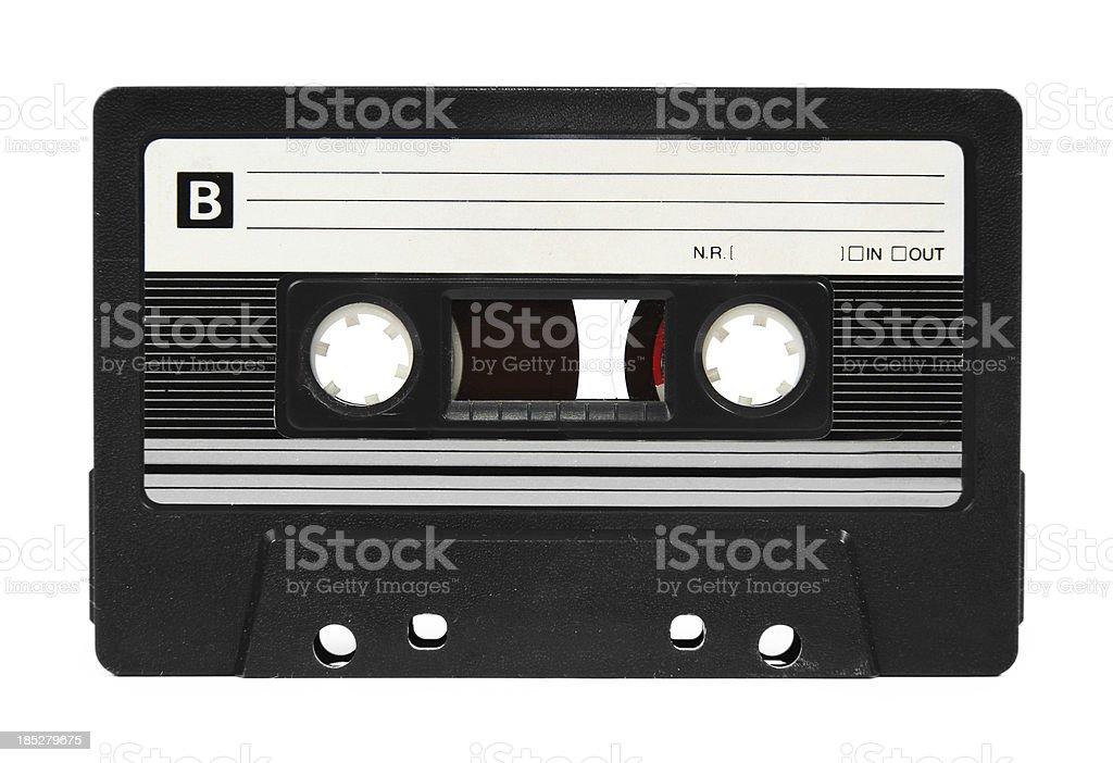 Audio tape on white stock photo