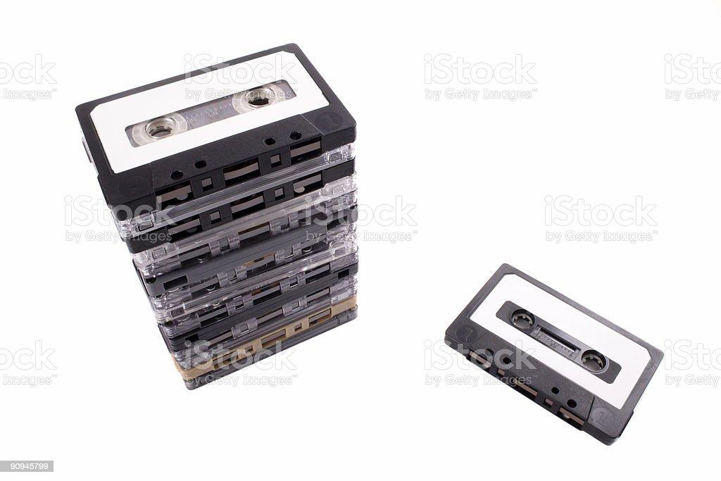 Audio tape royalty-free stock photo