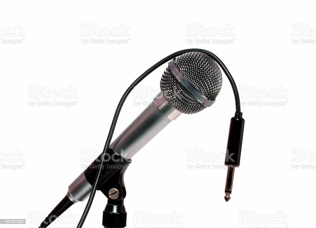 Audio: Unplugged Studio Microphone stock photo
