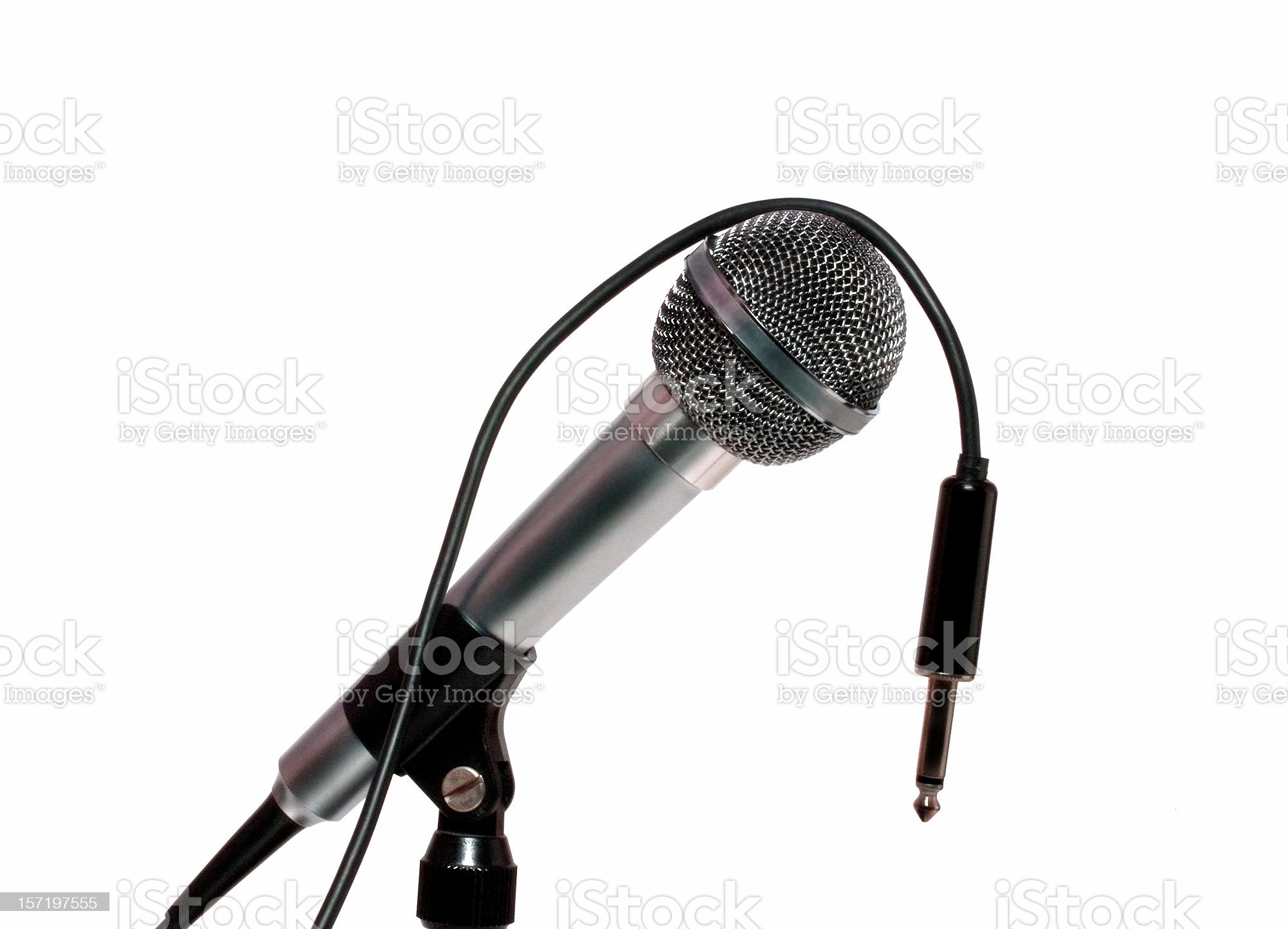 Audio: Unplugged Studio Microphone royalty-free stock photo