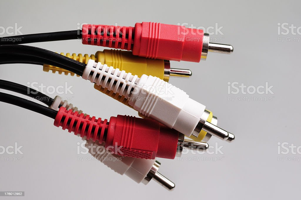 audio video cables royalty-free stock photo