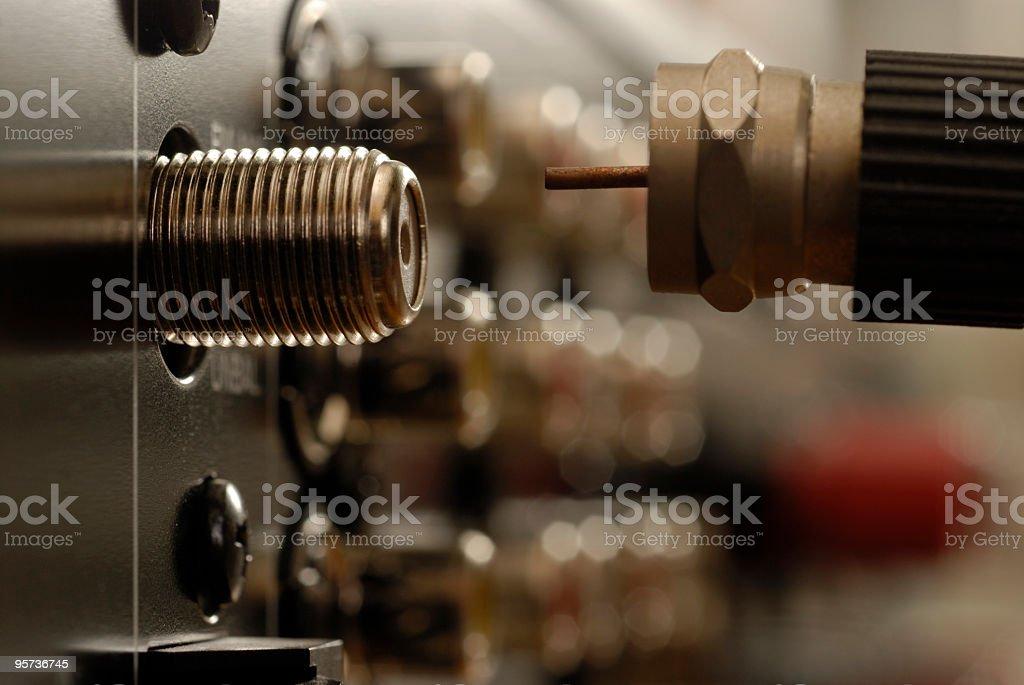 Audio Video Connection stock photo