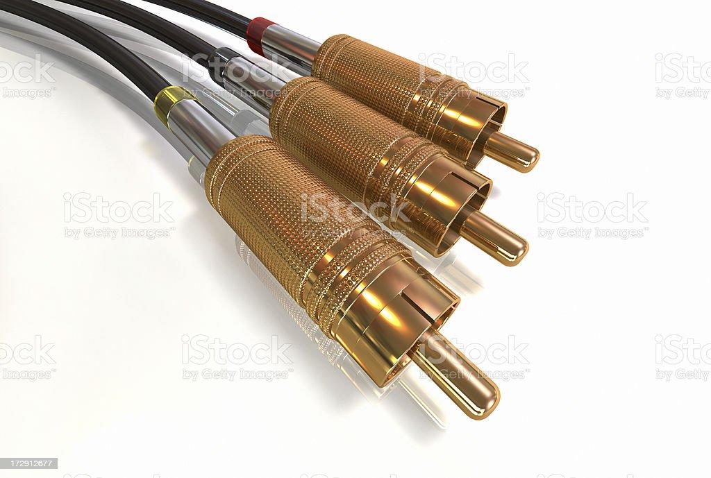 audio video connector stock photo