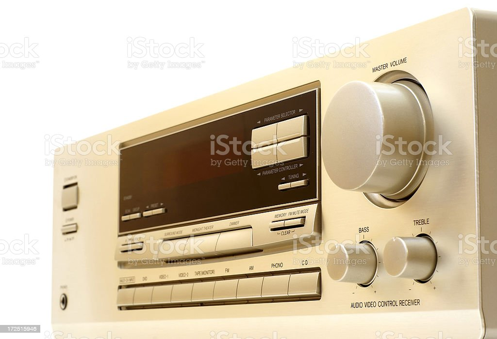 Audio video control center royalty-free stock photo