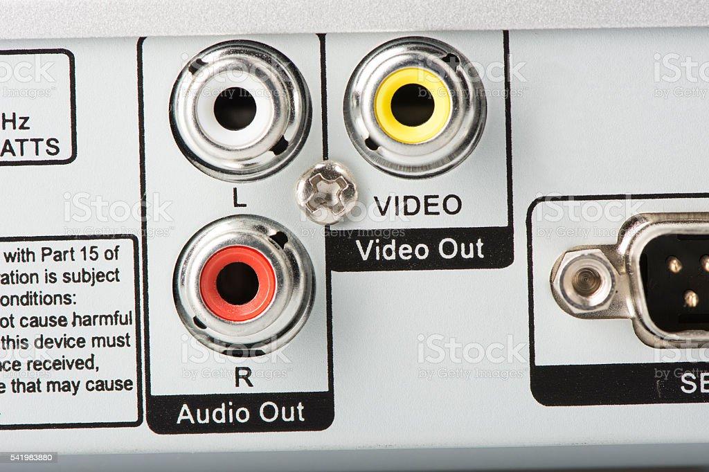 Audio Video Inputs stock photo