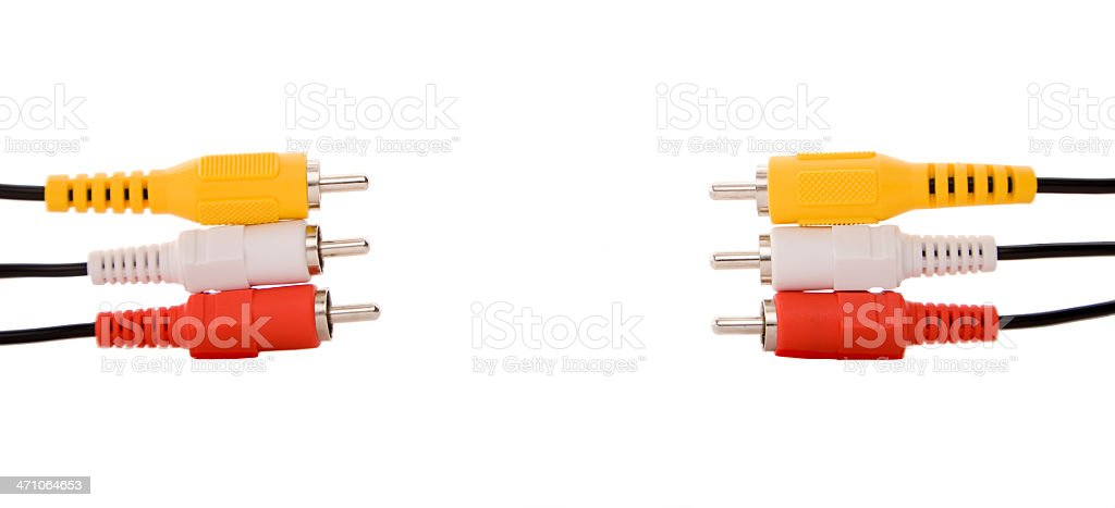 Audio Visual Cables stock photo