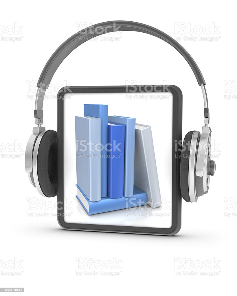 Audiobook Concept royalty-free stock photo
