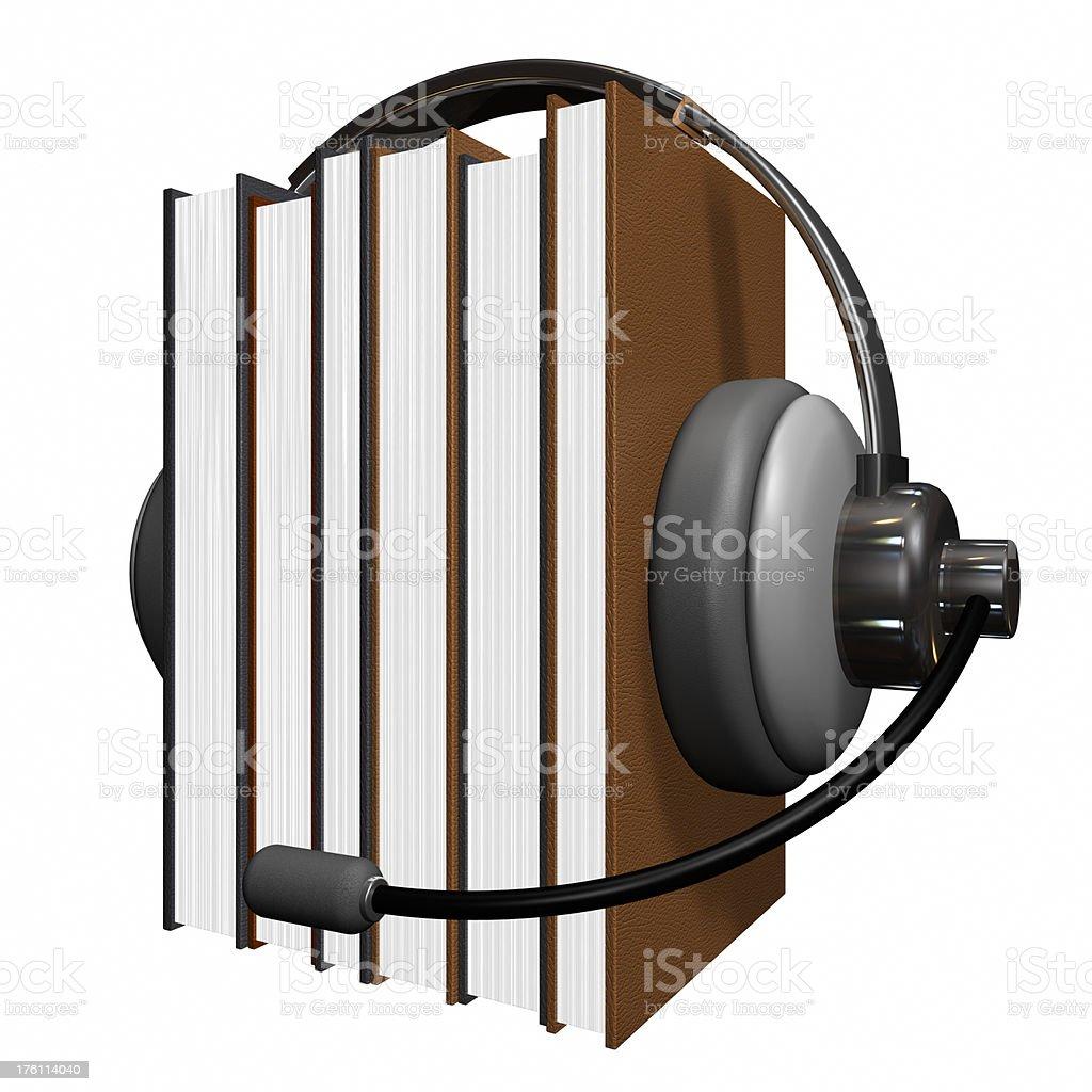 Audiobook royalty-free stock photo