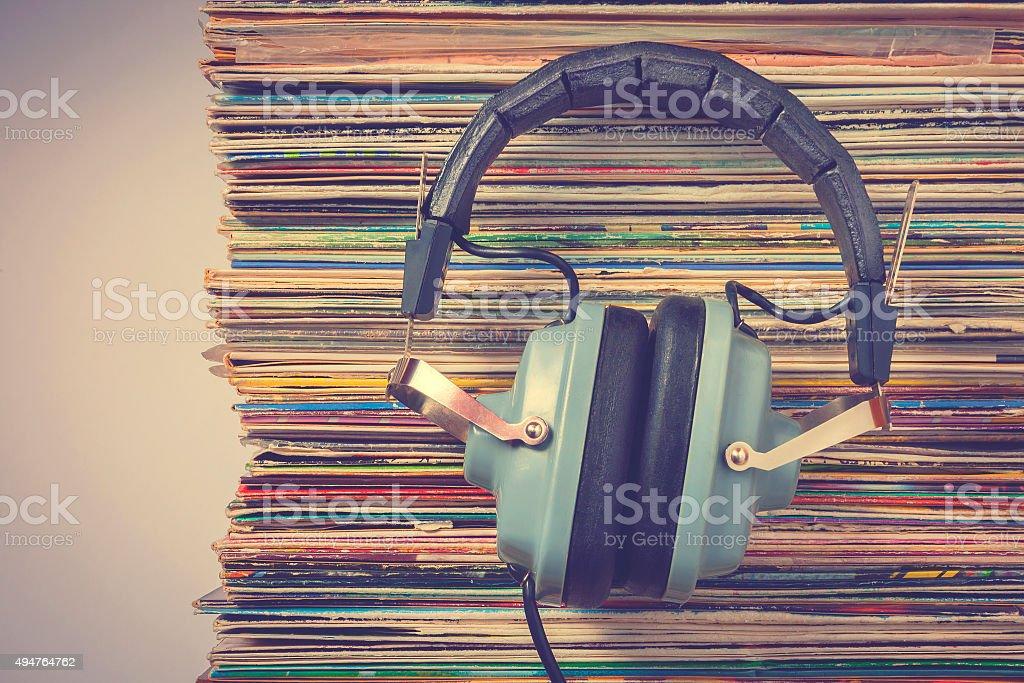 Audiophile headphones stock photo