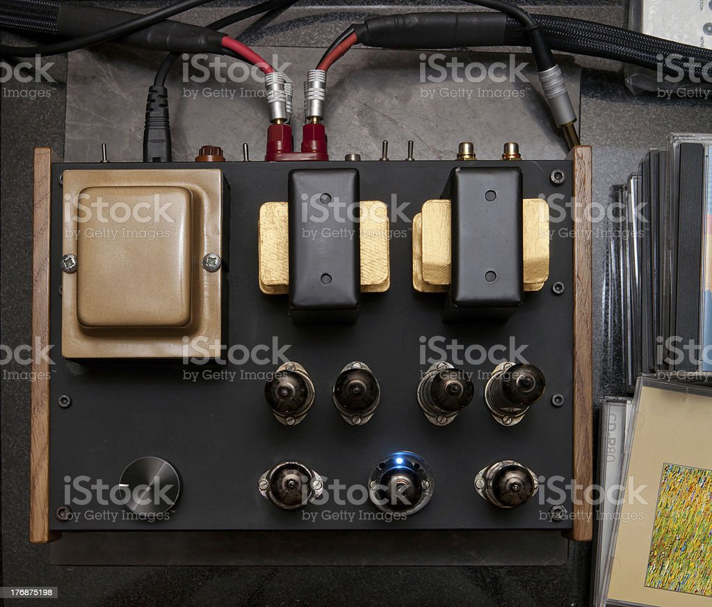 Audiophile vacuum tube amplifier royalty-free stock photo