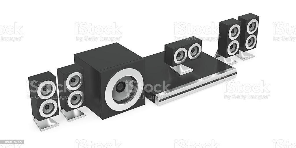 Audio-video player with speakers royalty-free stock photo