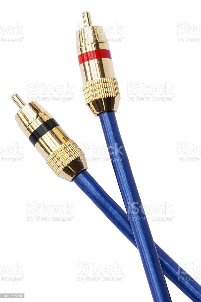 Audio-visual connectors stock photo