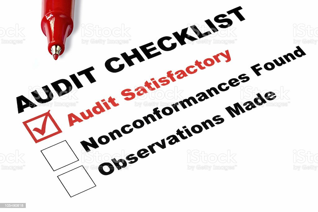 Audit Checklist royalty-free stock photo