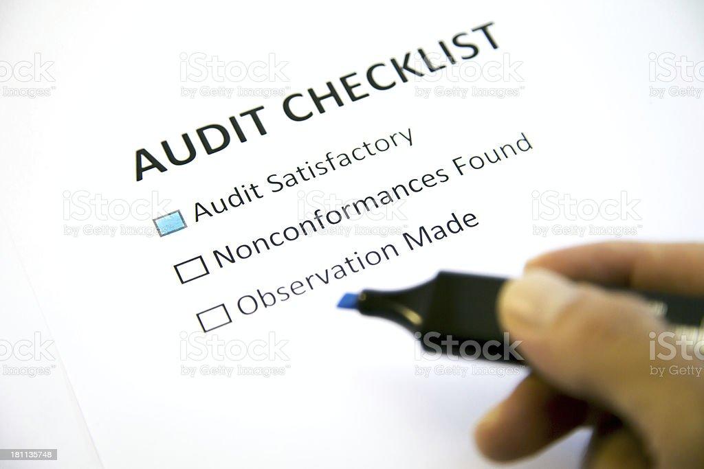 Audit checklist stock photo