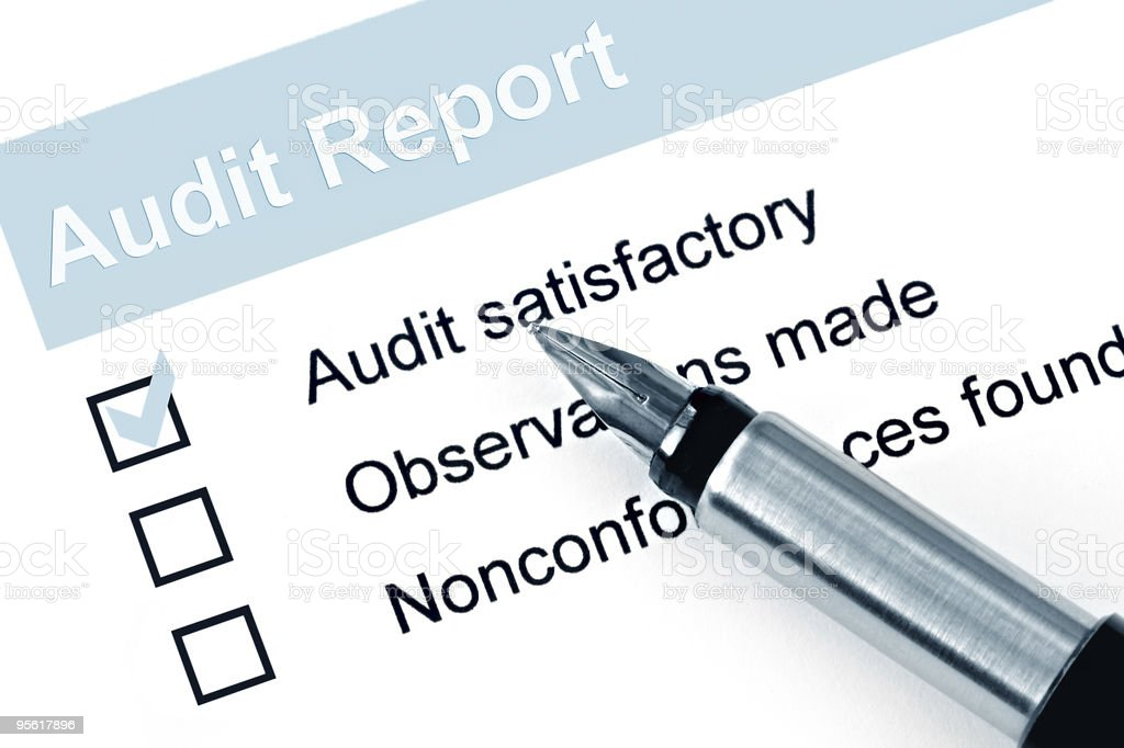 Audit Report stock photo