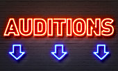 Auditions neon sign