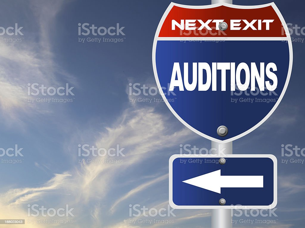 Auditions road sign stock photo