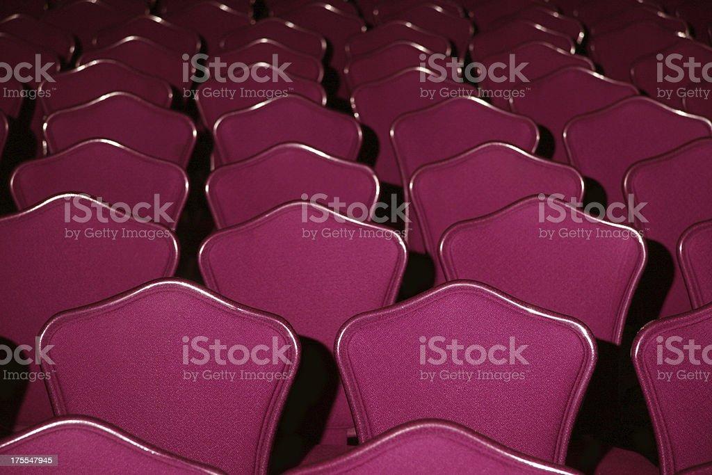 auditorium chairs empty royalty-free stock photo