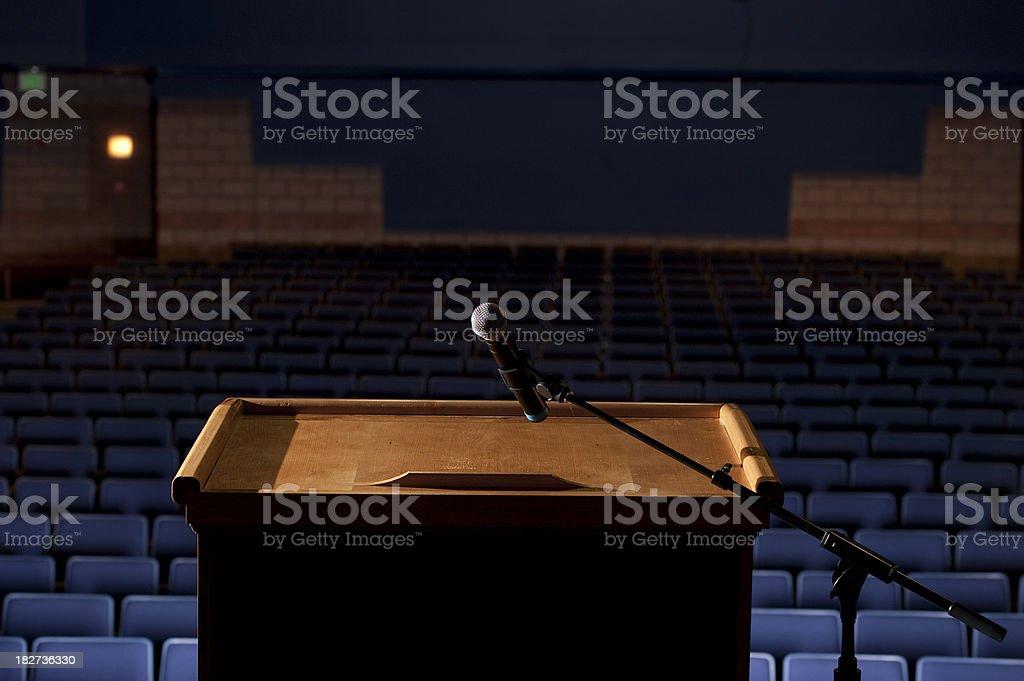 Auditorium from behind the Podium stock photo