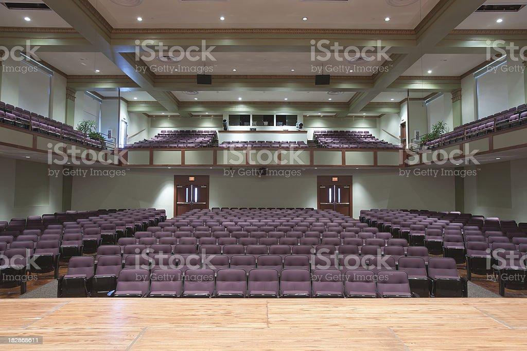 Auditorium Seats royalty-free stock photo