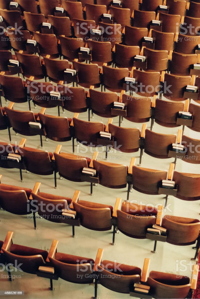 Auditorium Seats stock photo