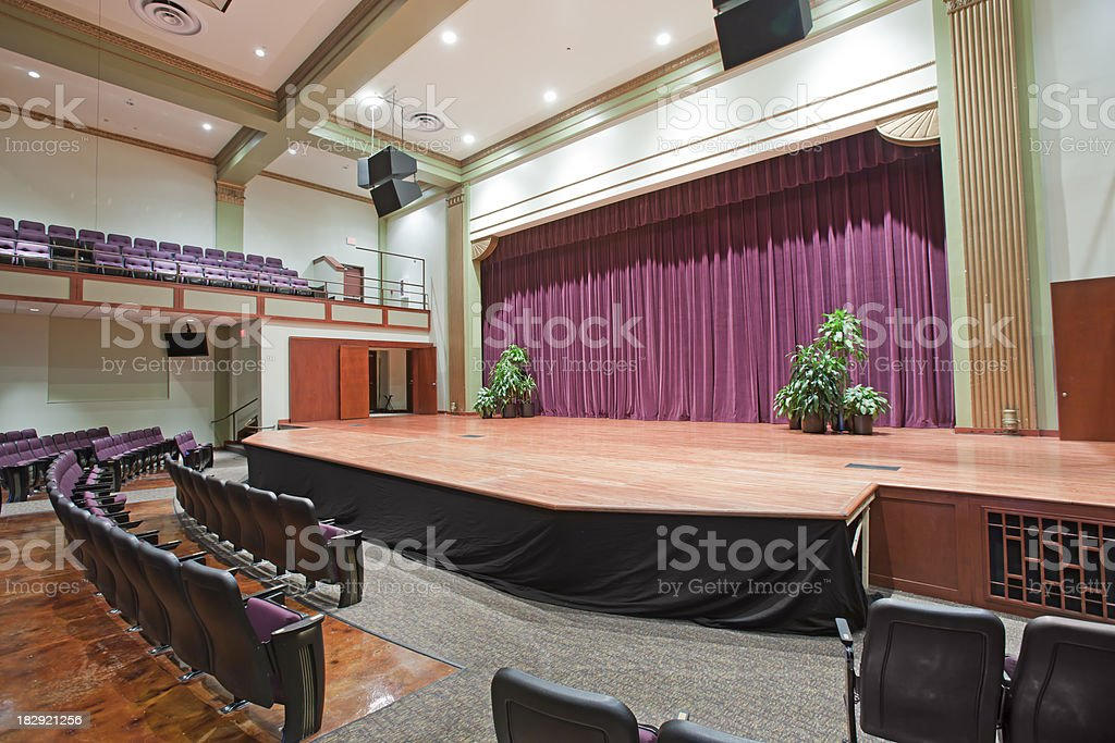 Auditorium Stage royalty-free stock photo