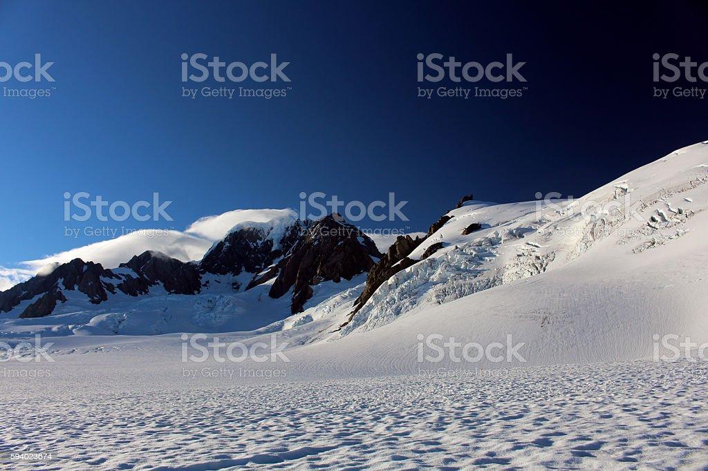 Auf dem Gletscher stock photo