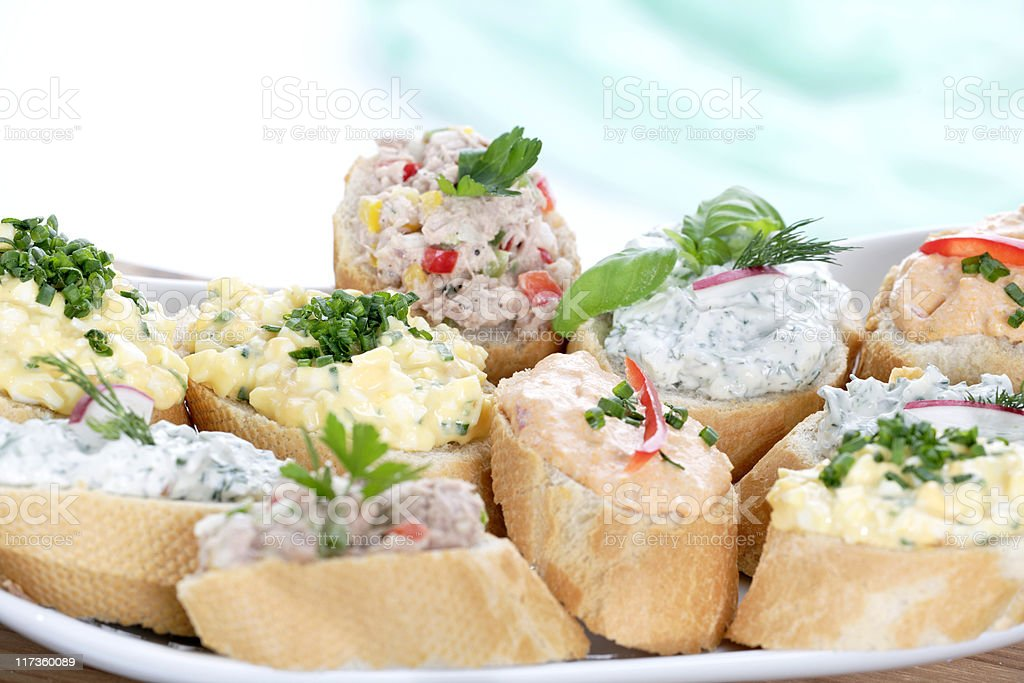 aufstrichbrötchen royalty-free stock photo