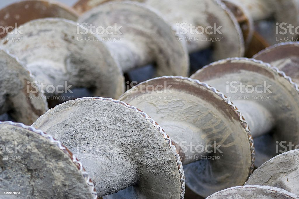 Auger blades stock photo