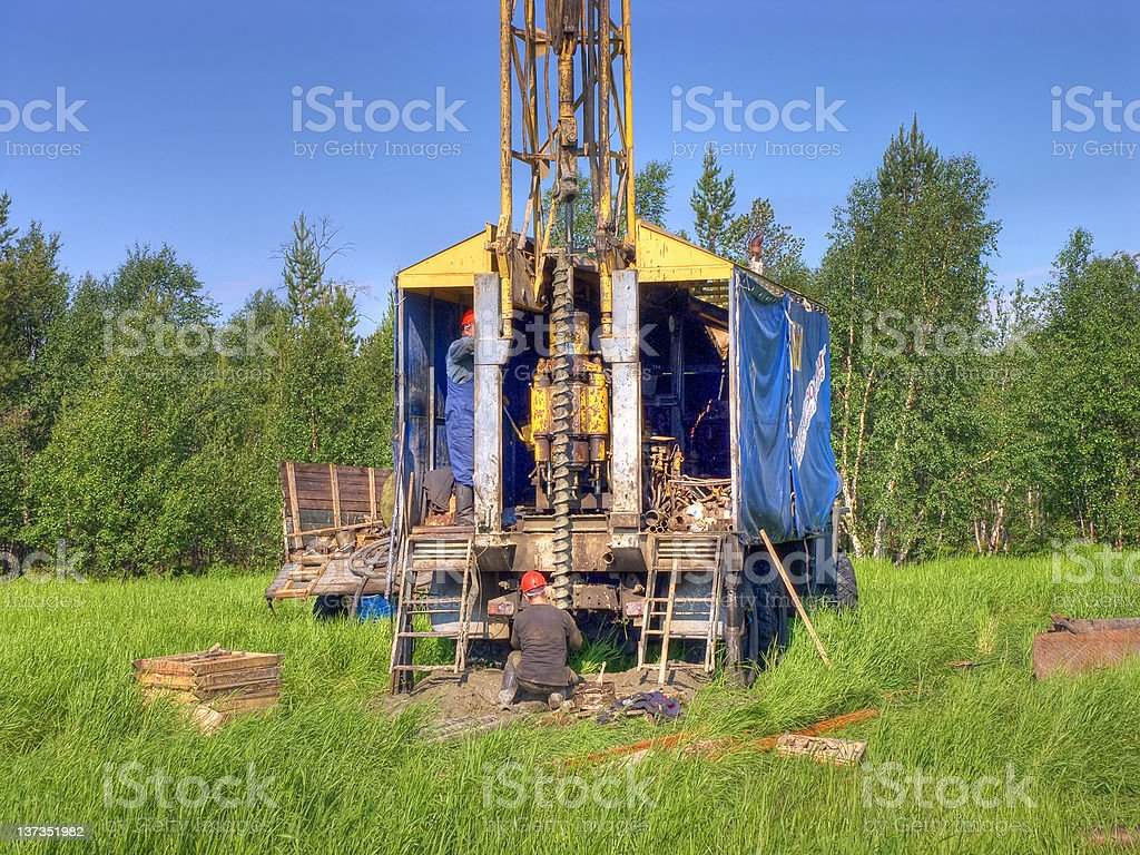 Auger drill. royalty-free stock photo