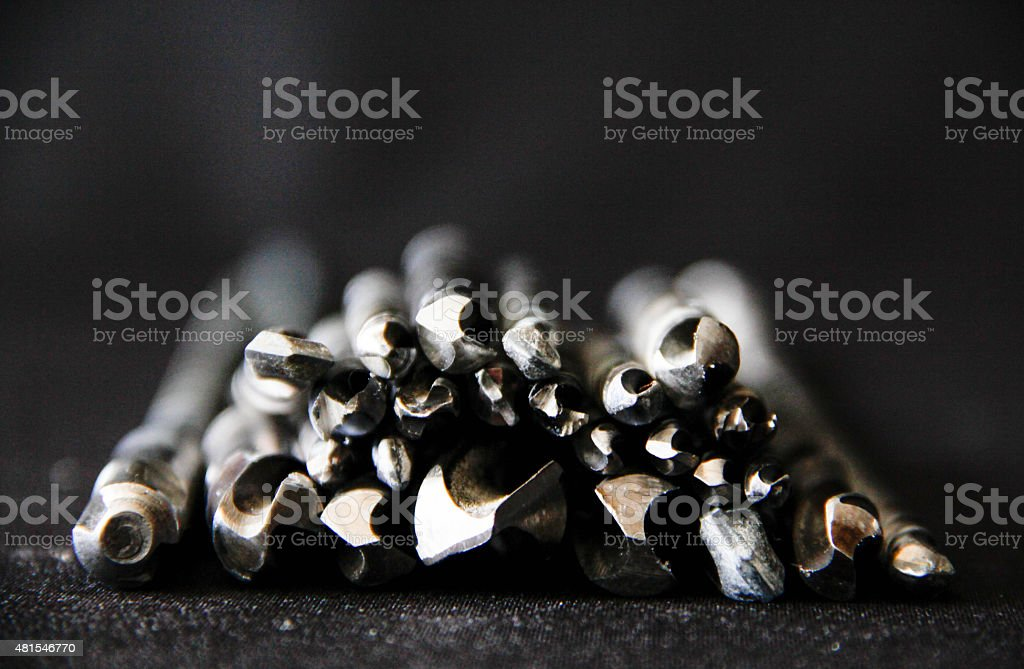 Auger drill stock photo