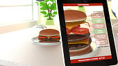 Augmented reality burger food analysis