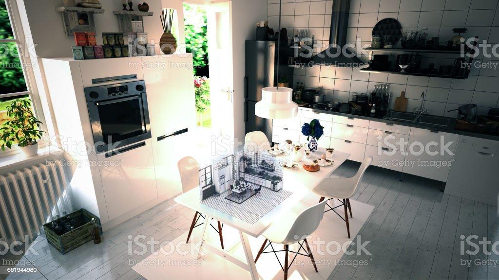 Augmented Reality Interior Design stock photo