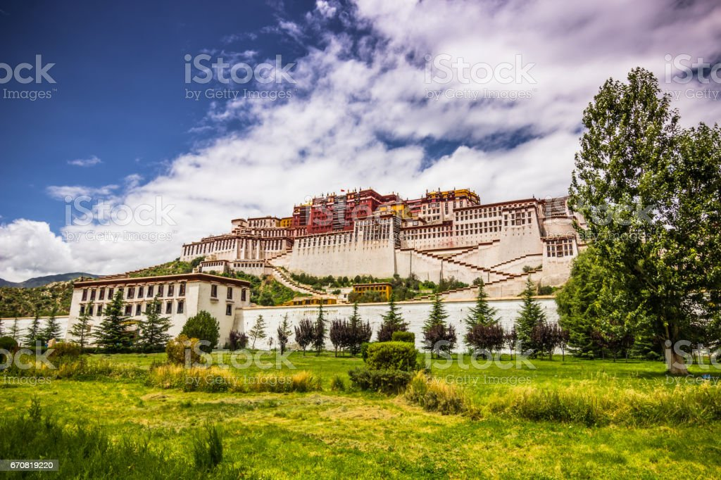 August 11, 2014 - Potala Palace in Lhasa, Tibet stock photo