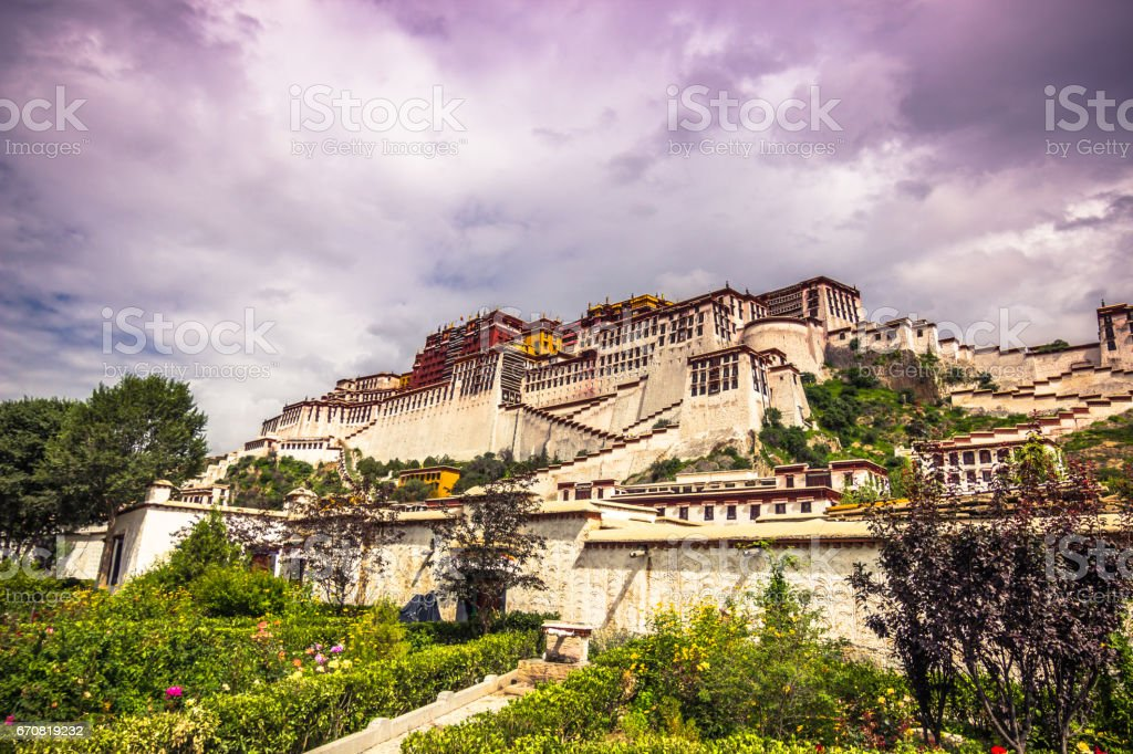 August 13, 2014 - Potala Palace in Lhasa, Tibet stock photo