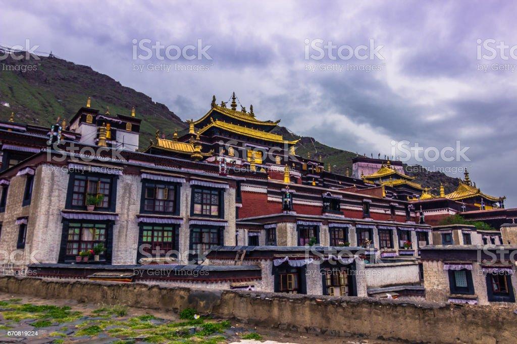 August 14, 2014 - Tashi Lhunpo Monastery in Shigatse, Tibet stock photo
