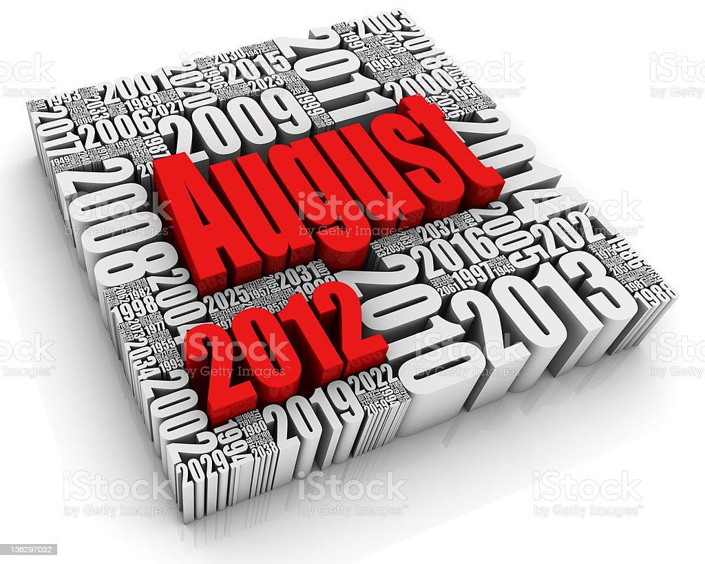 August 2012 royalty-free stock photo