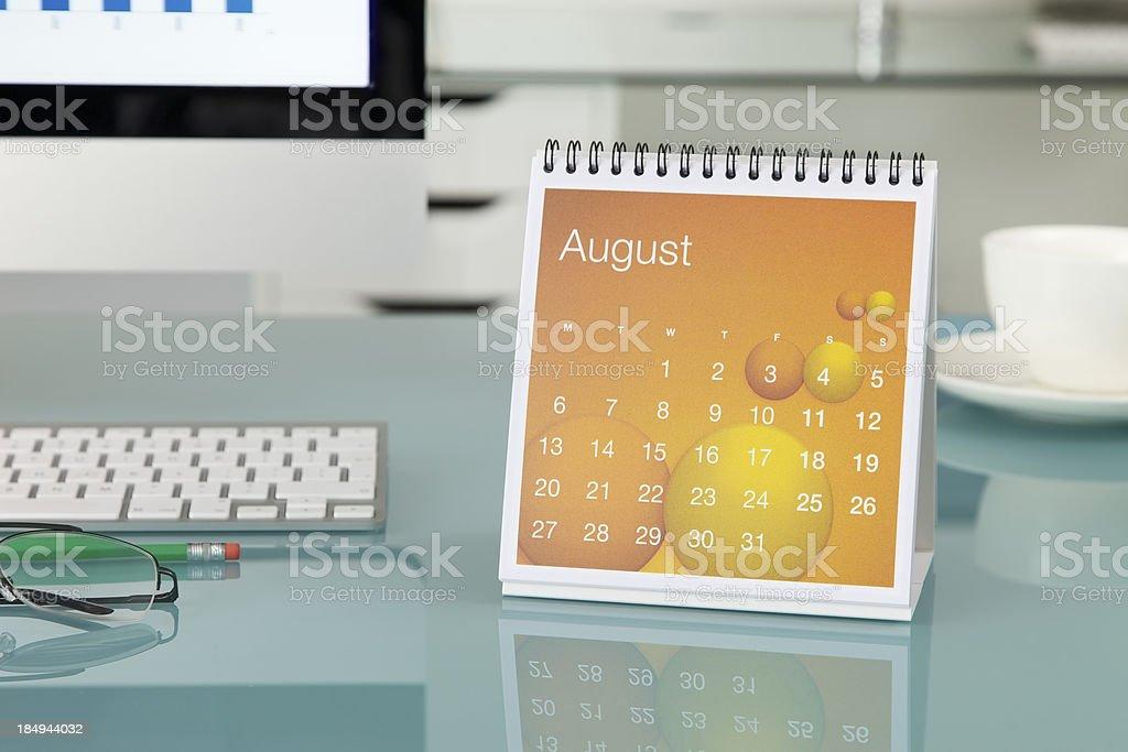 August 2012... stock photo