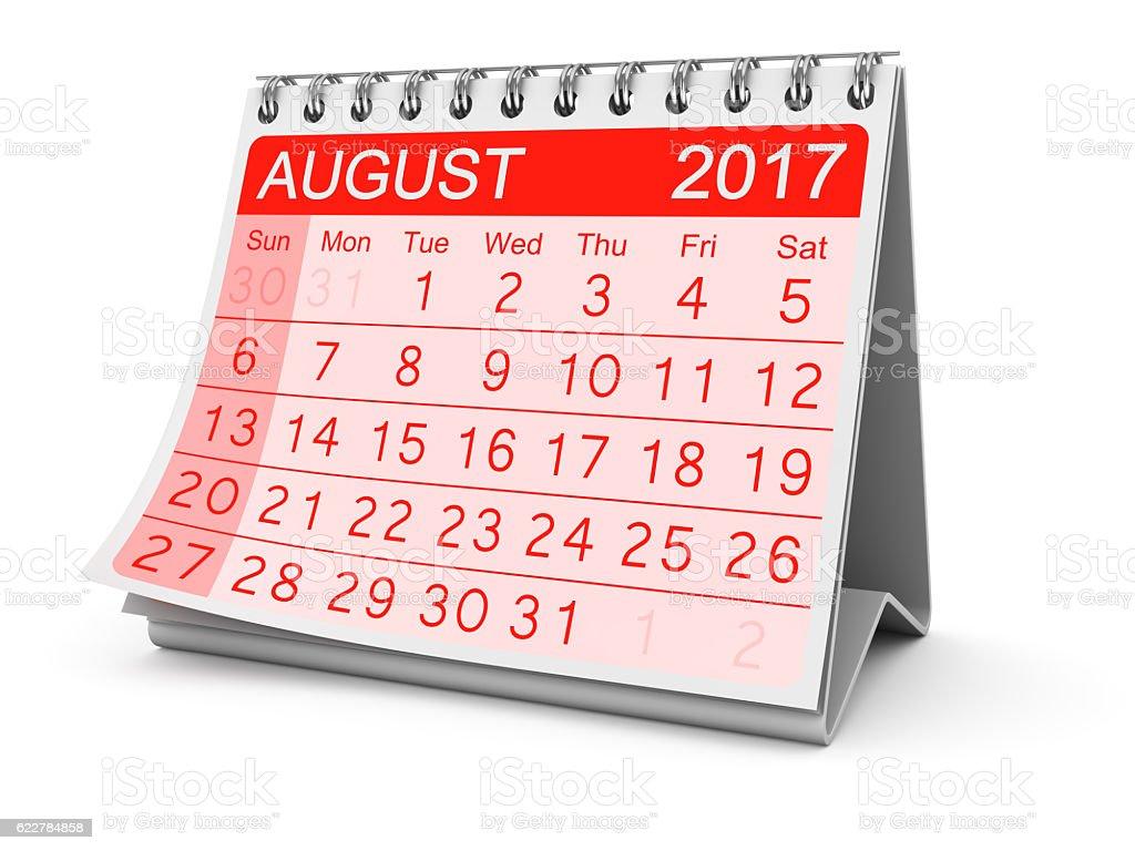 August 2017 stock photo