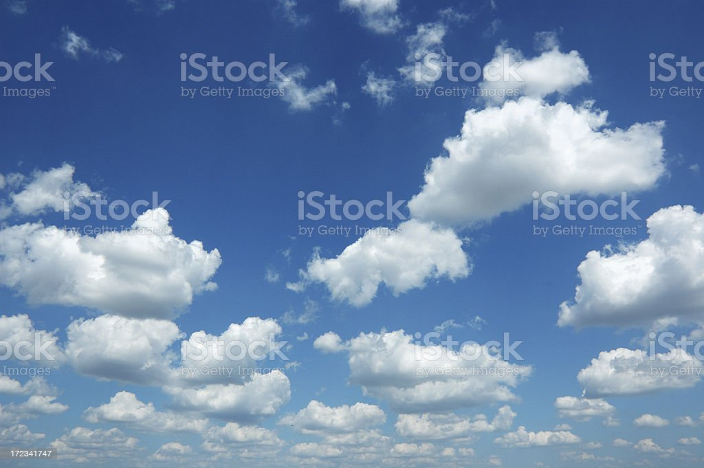 August Cloudscape Only Sky and Clouds stock photo