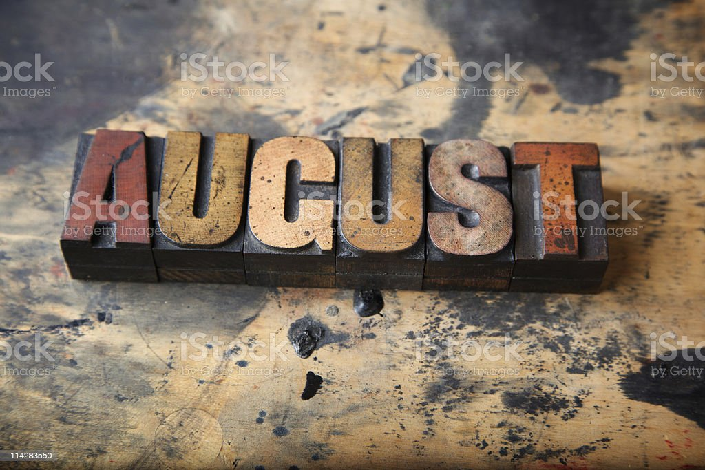 August... royalty-free stock photo