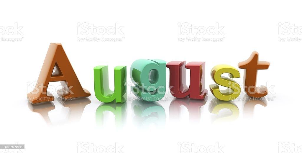 August stock photo