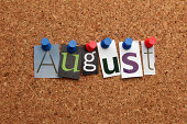 August pinned on noticeboard