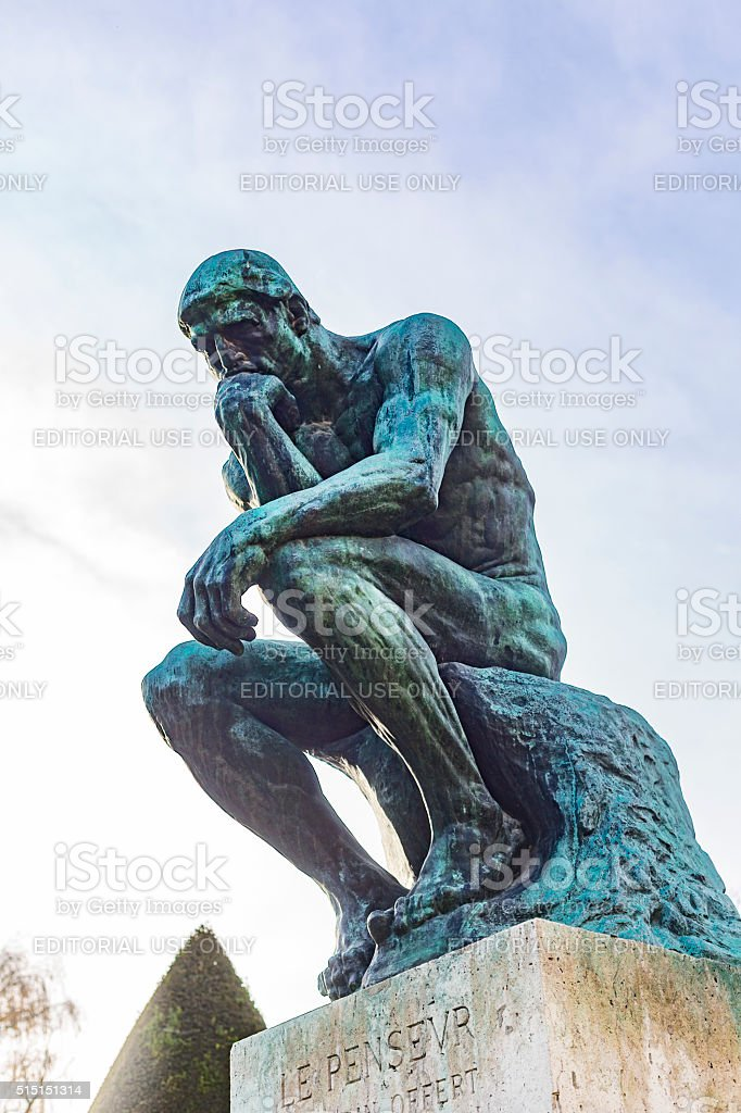 August Rodin's Famous Sculpture The Thinker stock photo
