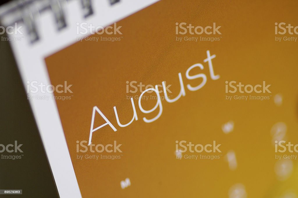 August Up Close... stock photo